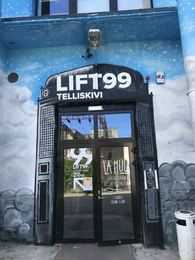 entrance of Lift99 coworking space in Tallinn