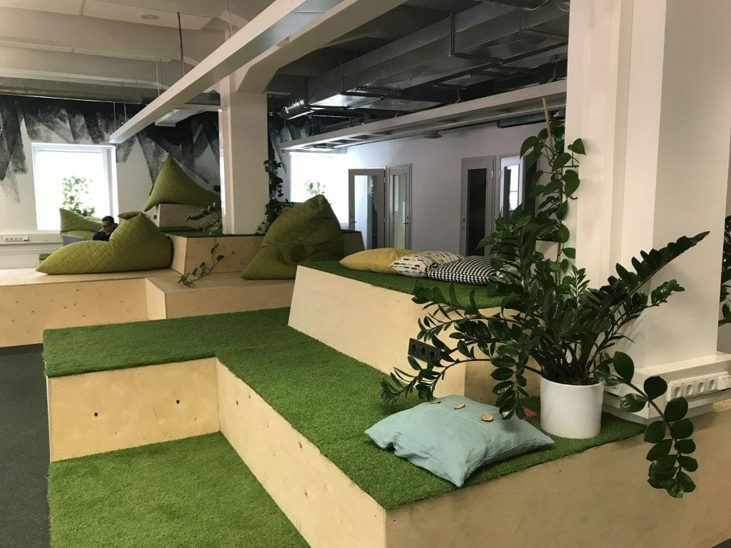 Spring Hub, coworking space in Tallinn, chill-out area